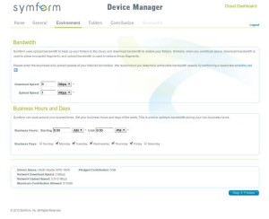 Symform - Device Manager - Environment