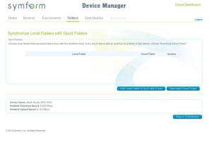 Symform - Device Manager - Folders
