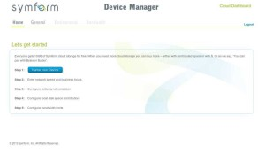 Symform - Device Manager - Home