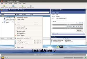 TeamDrive - Spaces Context Menu