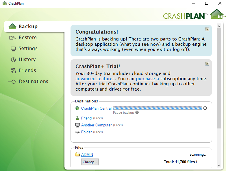 Crashplan-backups