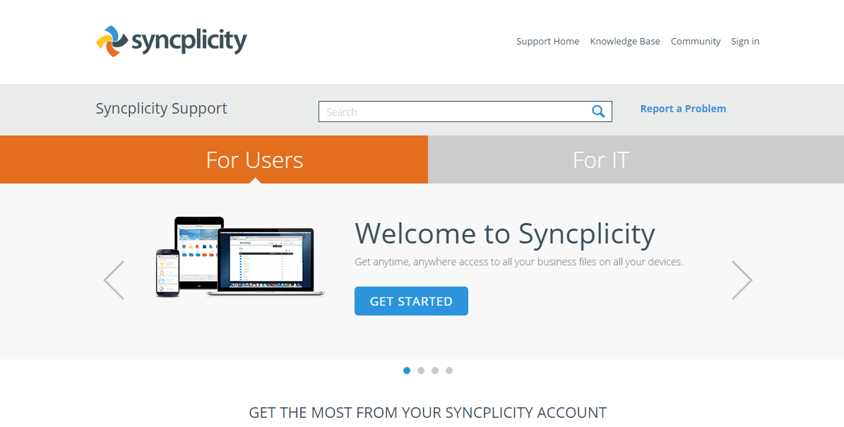 Syncplicity-support-home