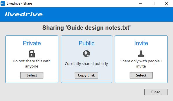 LiveDrive-sharing