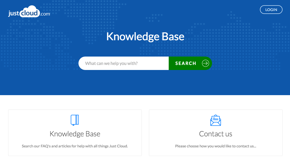 JustCloud knowledge base