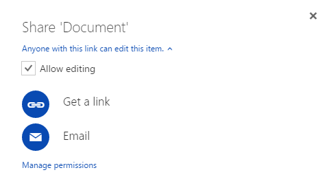OneDrive file sharing
